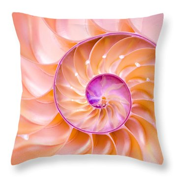 Nautilus Shell Detail Throw Pillow