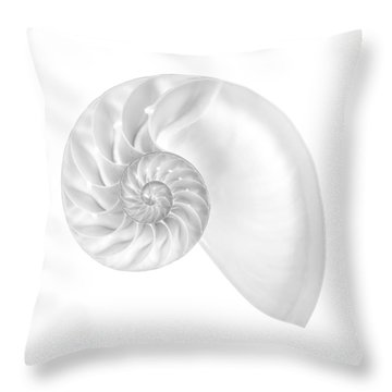 Nautilus Shell Interior Throw Pillow