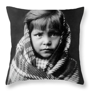 Navajo Child Throw Pillow by Aged Pixel