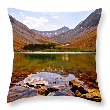 Navajo Lake Throw Pillow