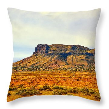Navajo Nation Monument Valley Throw Pillow by Bob and Nadine Johnston