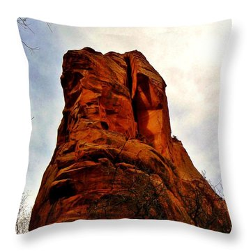 Ancient Face Navajo Sandstone Kanarraville Utah Throw Pillow by Deborah Moen