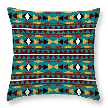 Navajo Teal Pattern Throw Pillow