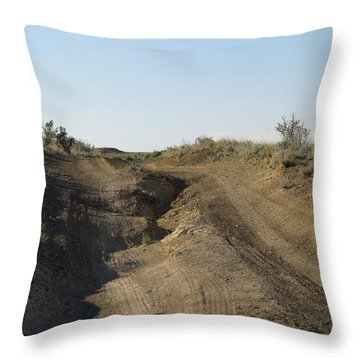 Navajo Two Track Throw Pillow by Feva  Fotos