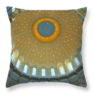 Naval Academy Chapel Side Dome Throw Pillow by Mark Dodd