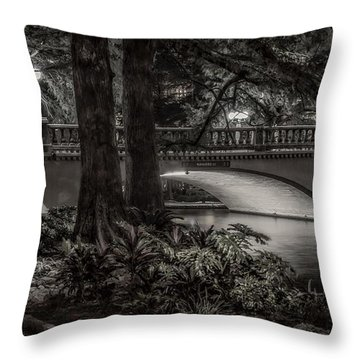 Navarro Street Bridge At Night Throw Pillow by Steven Sparks