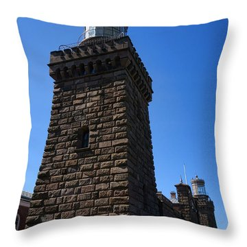 Navesink Twin Lights Throw Pillow by Olivier Le Queinec