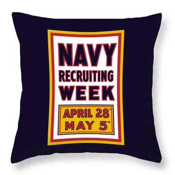 Navy Recruiting Week  Throw Pillow by War Is Hell Store