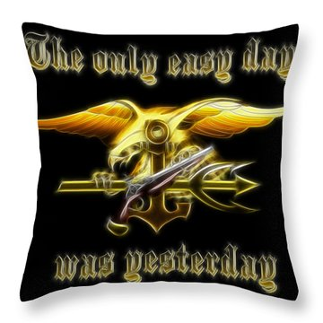 Navy Seals Throw Pillow