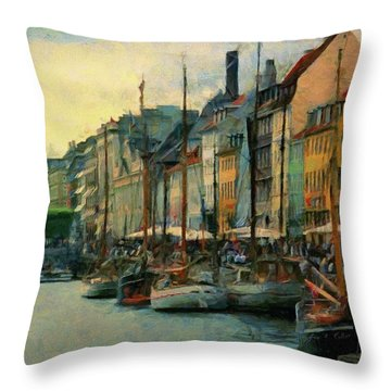 Nayhavn Street Throw Pillow