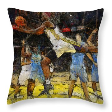 NBA Throw Pillow by Georgi Dimitrov
