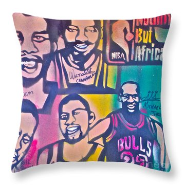 Nba Nuthin' But Africans Throw Pillow by Tony B Conscious