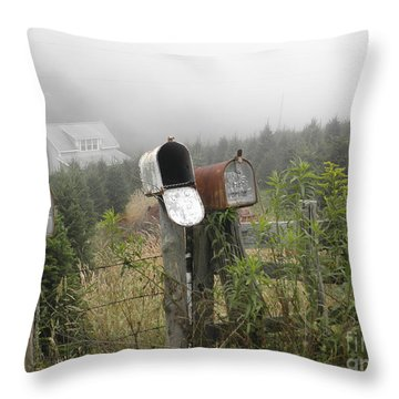Nc Mailboxes Throw Pillow by Valerie Reeves