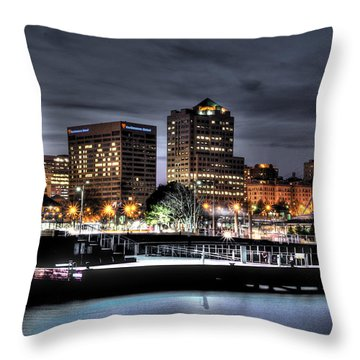 Throw Pillow featuring the photograph Ncaa In Lights by Deborah Klubertanz