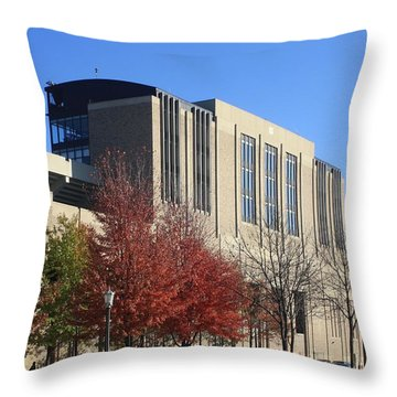 Nd Stadium Throw Pillow by Michael Cressy