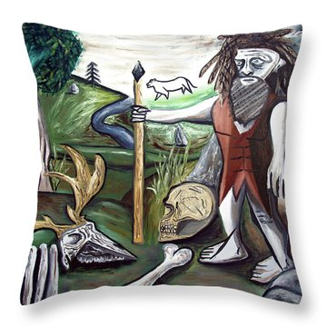 Throw Pillow featuring the painting Neander Valley by Ryan Demaree