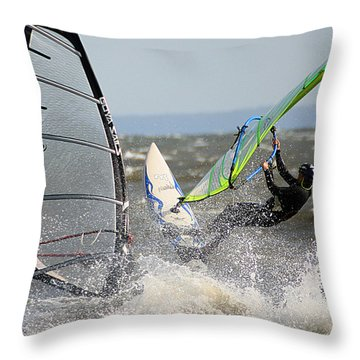 Throw Pillow featuring the photograph Near Miss by William Selander