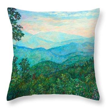 Near Purgatory Throw Pillow by Kendall Kessler