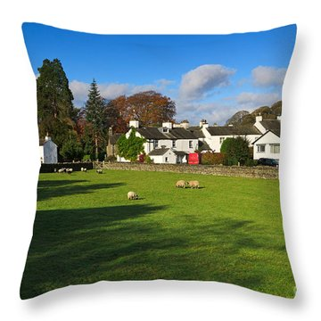 Near Sawrey In The Lake District Throw Pillow