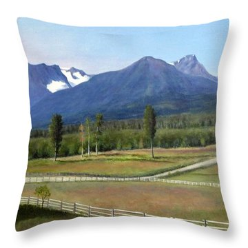Near Smithers Bc Throw Pillow