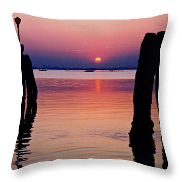 Near Venice Throw Pillow