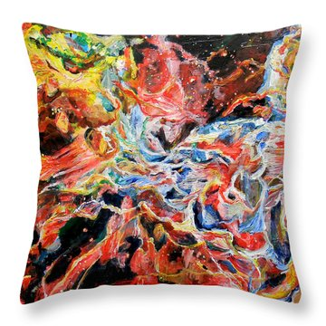 Nebula Throw Pillow by Art by Kar