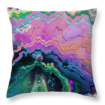 Throw Pillow featuring the mixed media Nebula by Carl Hunter