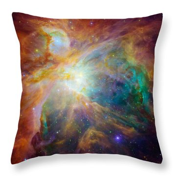 Chaos At The Heart Of Orion Throw Pillow
