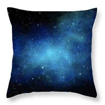 Nebula Mural Throw Pillow