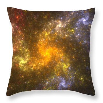 Throw Pillow featuring the digital art Nebula by Svetlana Nikolova