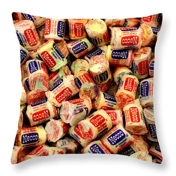 Necco Wafers Throw Pillow
