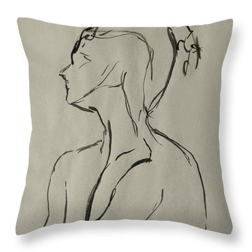 Neckline Throw Pillow by Peter Piatt