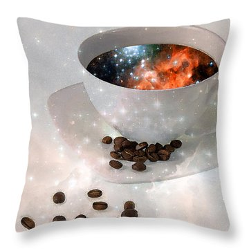 Nectar From Heaven - Coffee Art By Sharon Cummings Throw Pillow