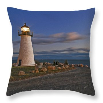Neds Point Lighthouse In Evening Throw Pillow