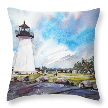 Ned's Point Light Throw Pillow