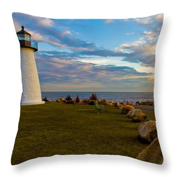 Neds Point Lighthouse Throw Pillow
