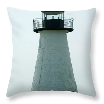 Ned's Point Lighthouse Throw Pillow