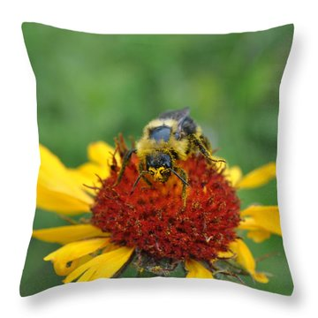 Need More Pollen Throw Pillow