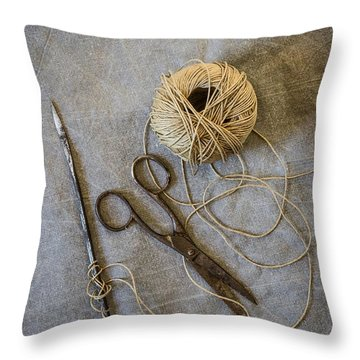 Needle And String Throw Pillow