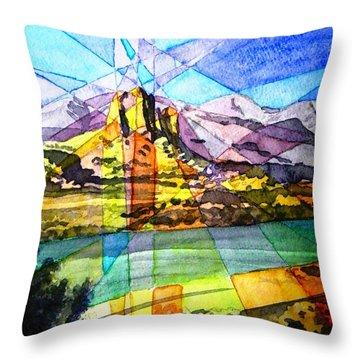 Needle Rock Light Show Throw Pillow