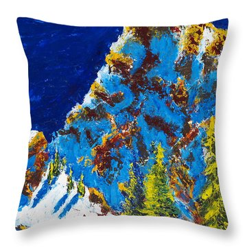 Needles 2 Throw Pillow