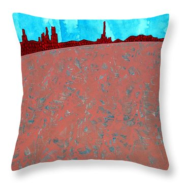 Needles And Dunes Original Painting Throw Pillow by Sol Luckman