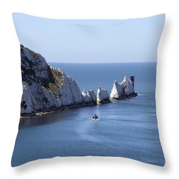 Needle's Isle Of Wight Throw Pillow