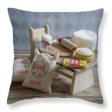 Needs More Sugar Throw Pillow by Heather Applegate