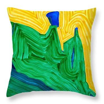 Nefertiti Original Painting Throw Pillow by Sol Luckman