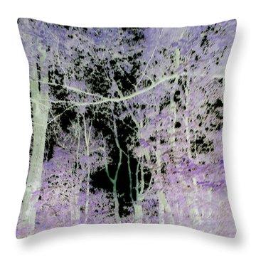 Negascape Throw Pillow