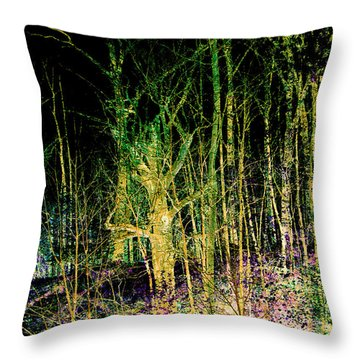 Negative Forest Throw Pillow