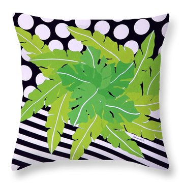 Negative Green Throw Pillow