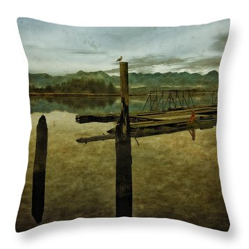 Nehalem Bay Reflections Throw Pillow