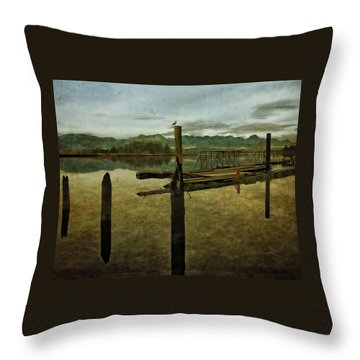 Nehalem Bay Reflections Throw Pillow